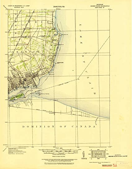 Grosse Point Michigan Map.Amazon Com Yellowmaps Grosse Pointe Mi Topo Map 1 62500 Scale 15