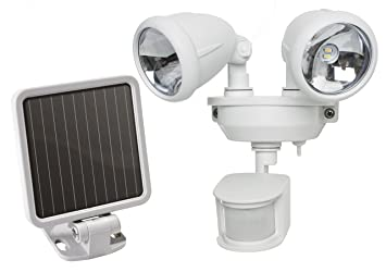 Amazon maxsa innovations 40218 motion activated dual head led maxsa innovations 40218 motion activated dual head led security spotlight white aloadofball Image collections