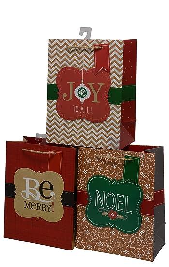 Amazon.com: Bolsas de regalo de Navidad, tamaño mediano ...