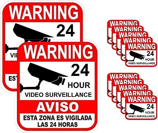 Amazon.com: Adhesivo de advertencia de 24 horas para ...