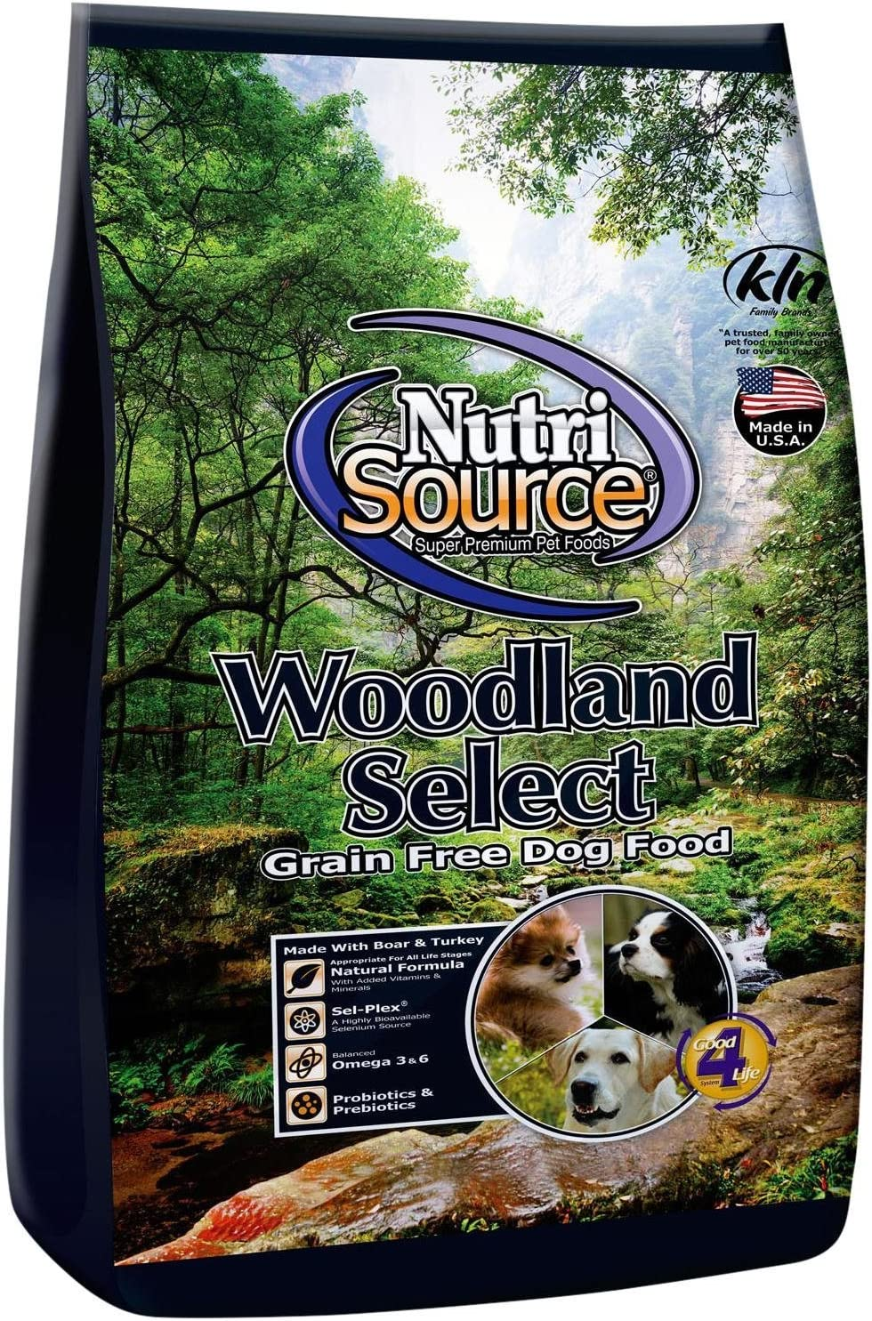 Nutri Source Woodlands Select Grain Free Dog Food - Boar & Turkey - 30 lb