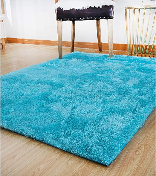 Lochas Ultra Soft Indoor Area Rugs 5 5 Cm Thick Fluffy Living Room Carpets Suitable For Children Kids Baby Bedroom Home Decor Nursery Rugs 4 X 5 3 Blue Amazon Ca Home Kitchen