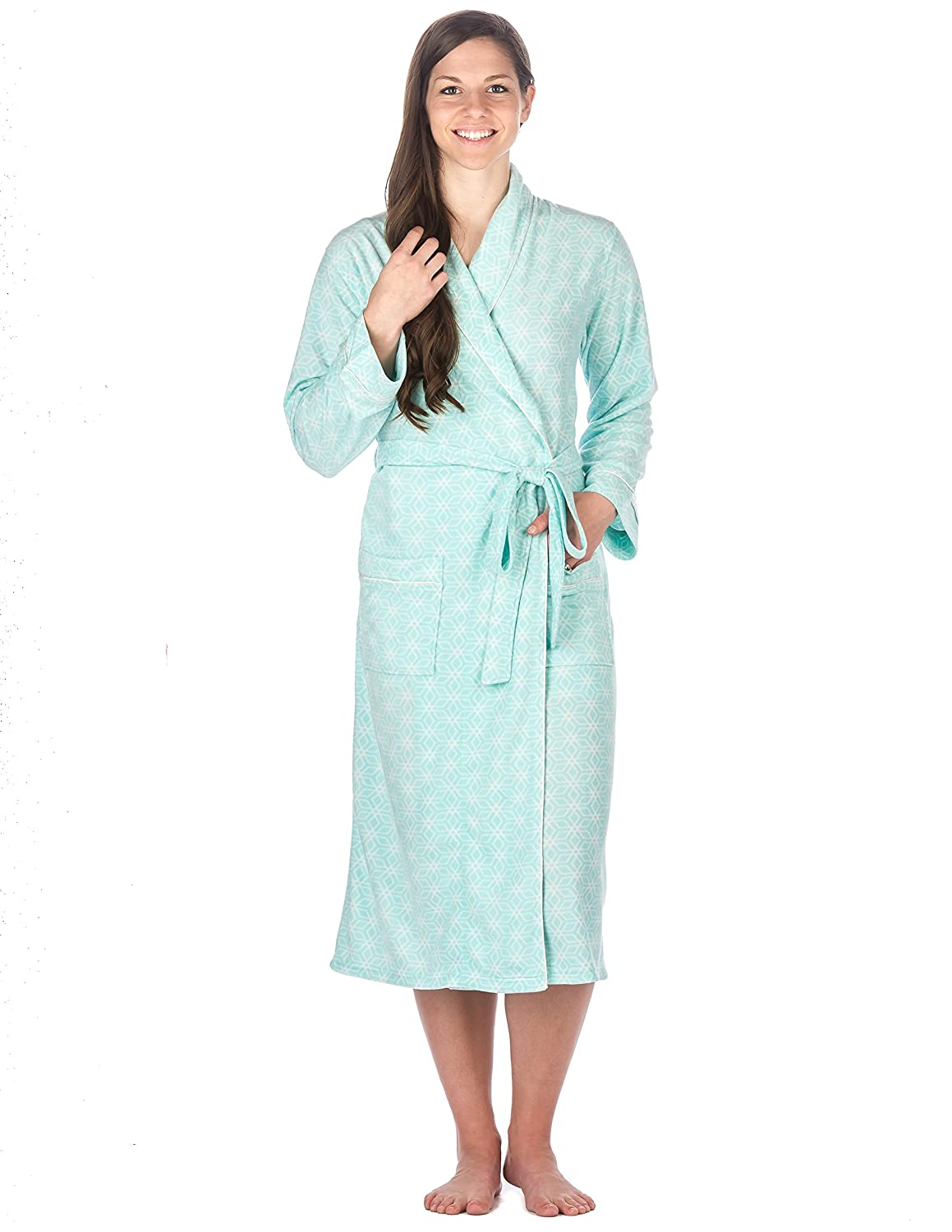 Noble Mount Womens Microfleece Dressing Gown/ Robe/ House Coat
