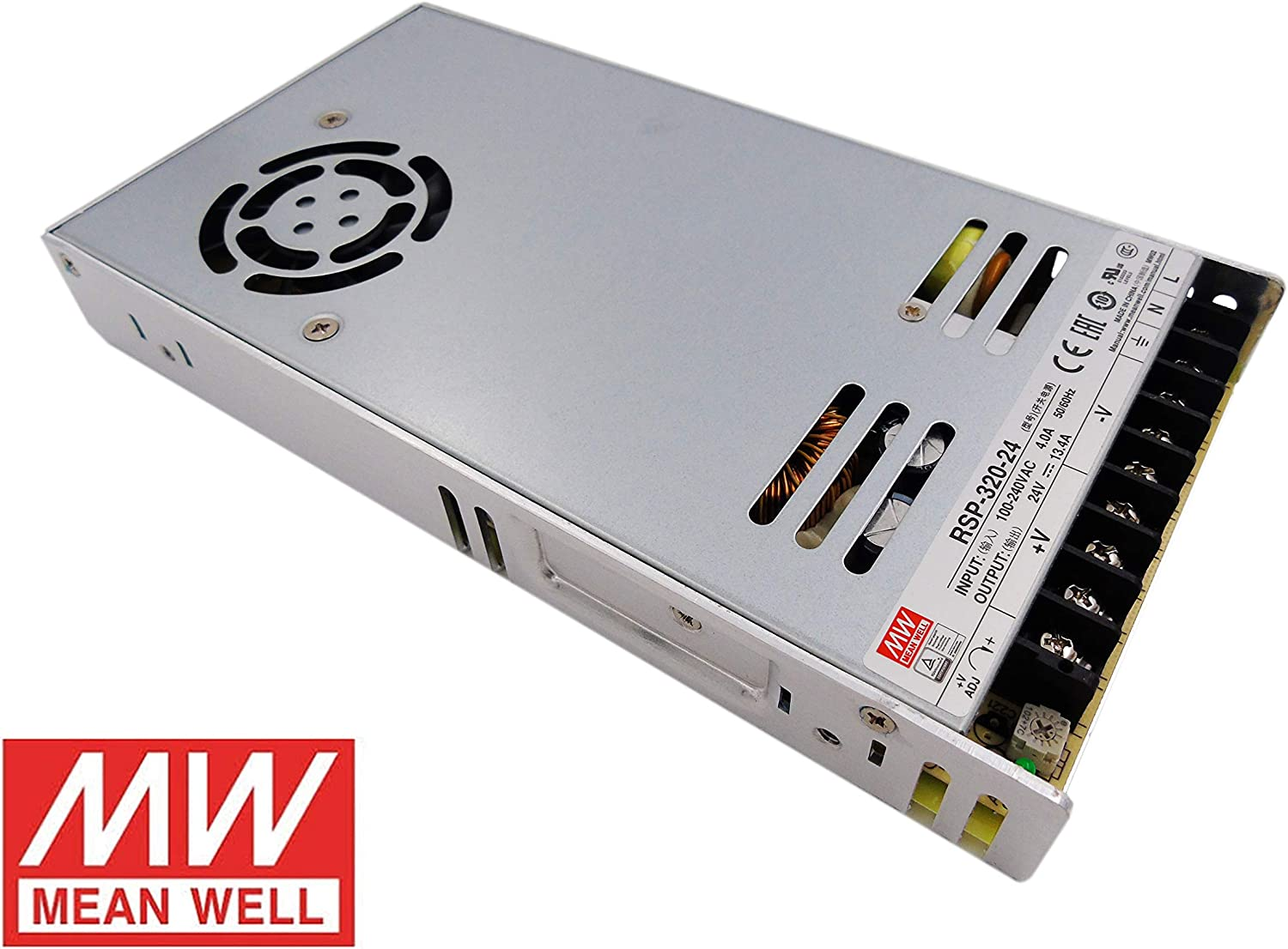 MeanWell Fuente de alimentacion 320W 24V 13.4A Enclosed RSP-320-24 Power Supply AC/DC