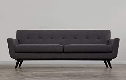 Amazon.com: Tov Furniture James Mid-Century Modern Linen Sofa, Grey ...