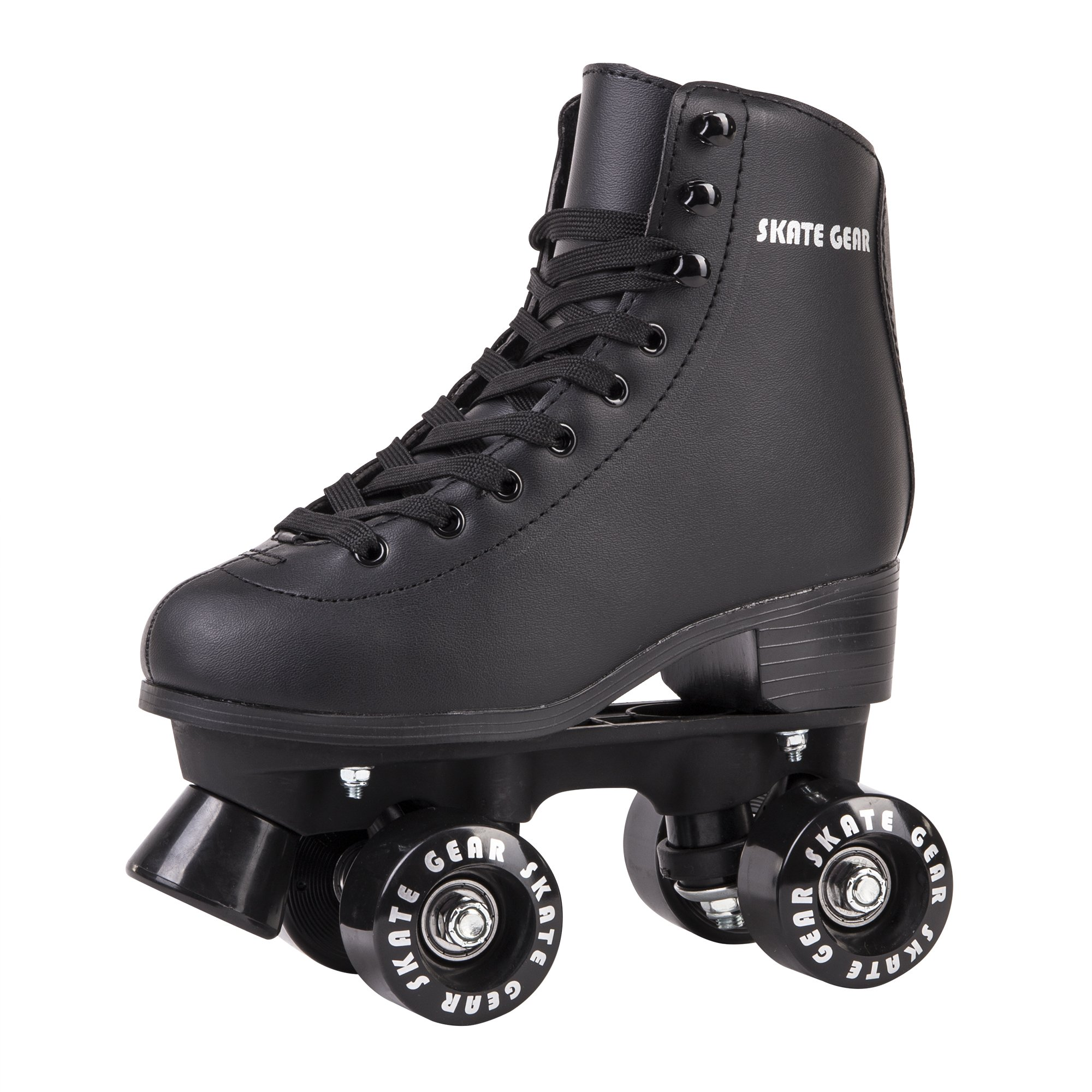 Cal 7 All-Purpose Indoor Outdoor Speedy Roller Skate for Youth and Adults (Black, Youth 5/Women's 6)