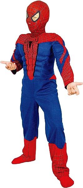 Disfraz The Amazing Spiderman musculoso, 3-5 años: Amazon.es ...