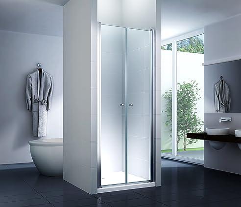 nischentr 85 x 195 cm duschtr duschkabine dusche duschwand seitenwand 6 mm sicherheitsglas esg - Dusche Nischentur 85 Cm