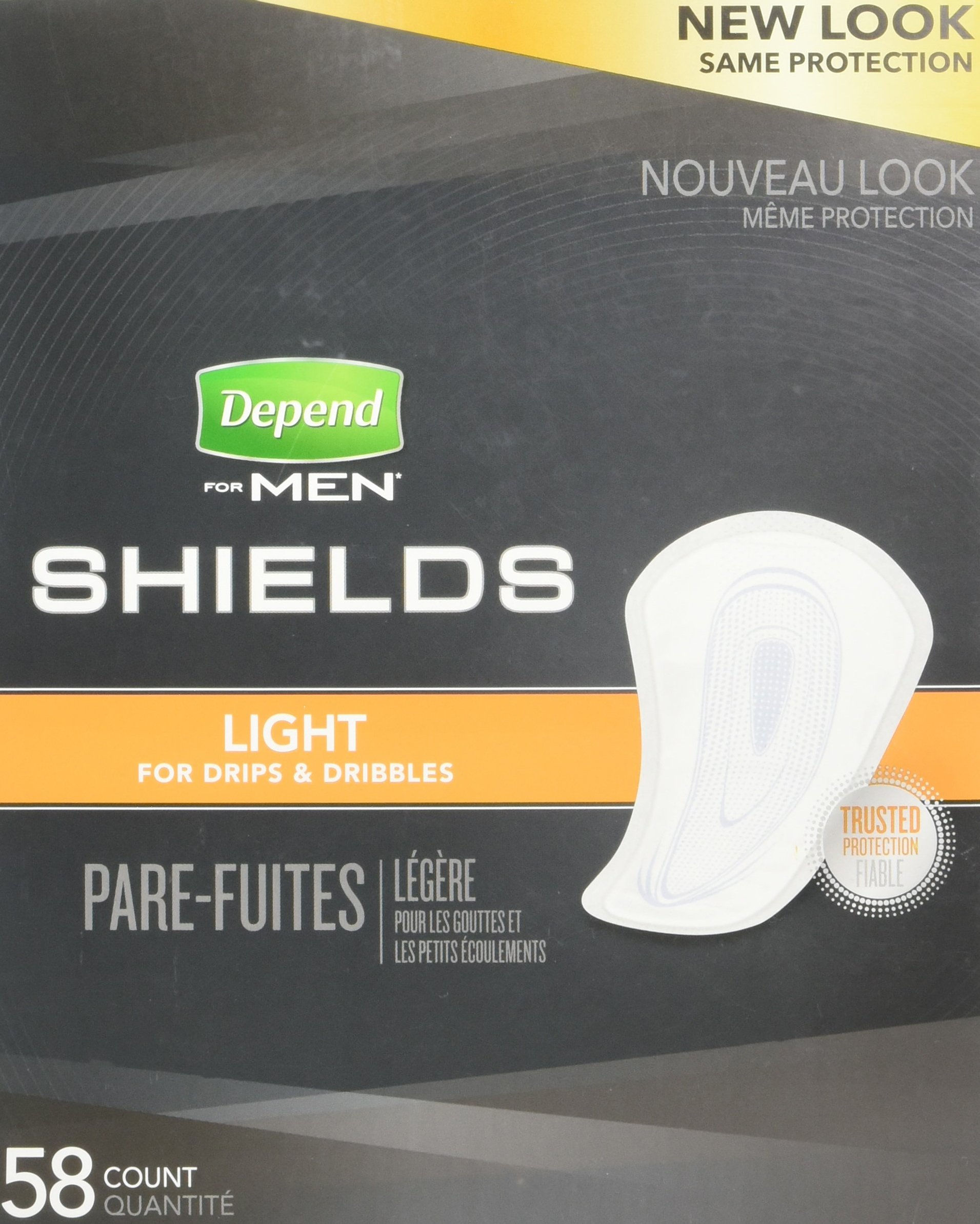 Depend Shields for Men, Case/174 (pack of 3) (58 count)