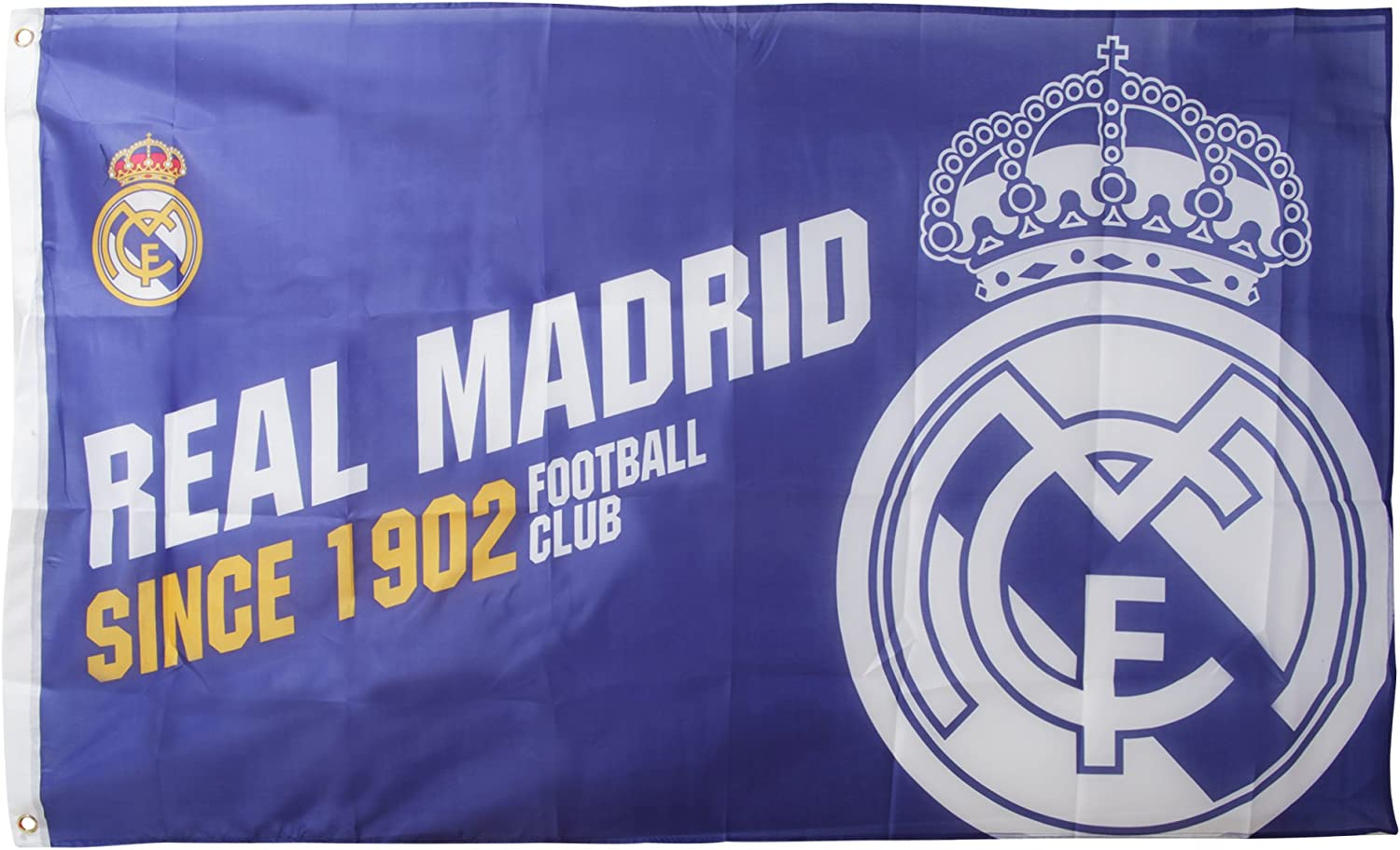 Real Madrid F.C. Established Bandera, Unisex, Multicolor: Amazon ...