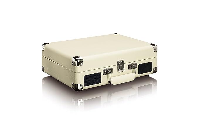 Tocadiscos LENCO TT-11WH Color Beige, Retro, 3 velocidades ...
