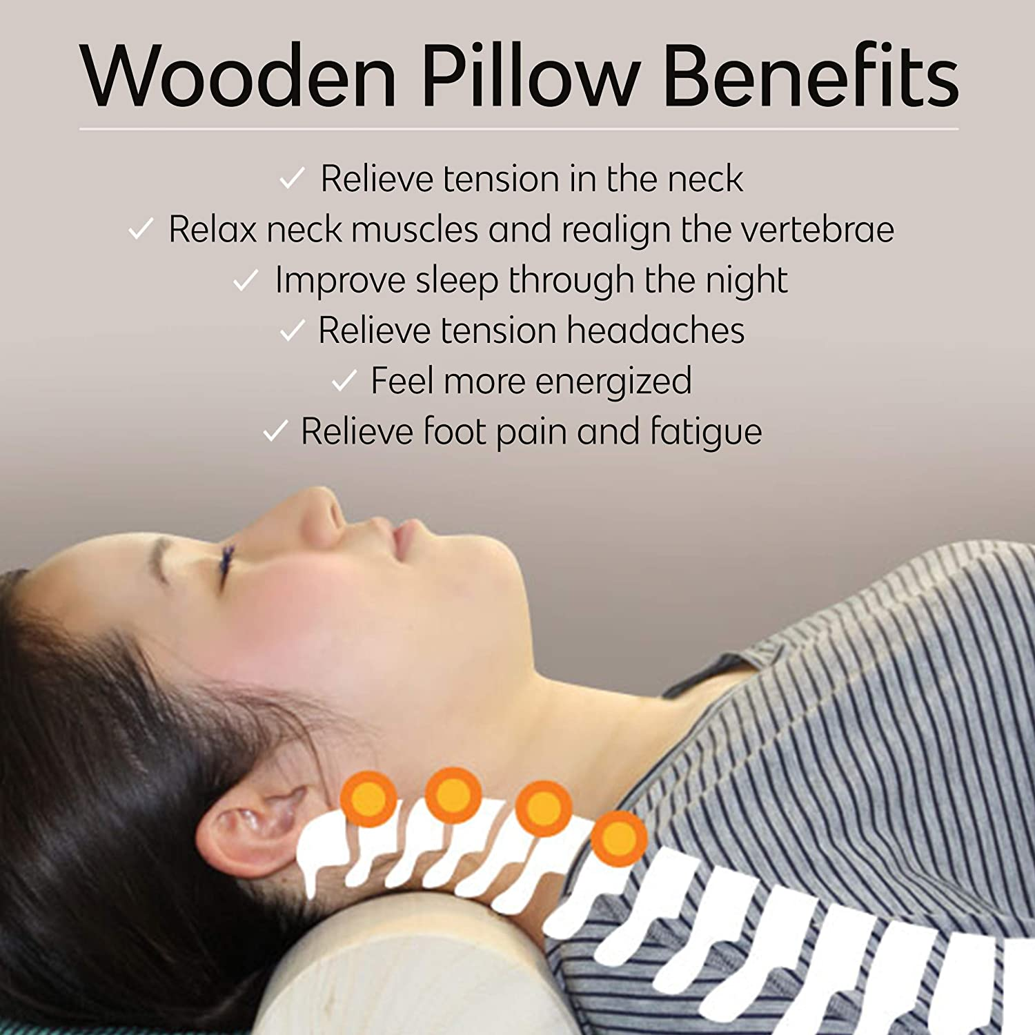 Wooden Pillow for Neck Pain and