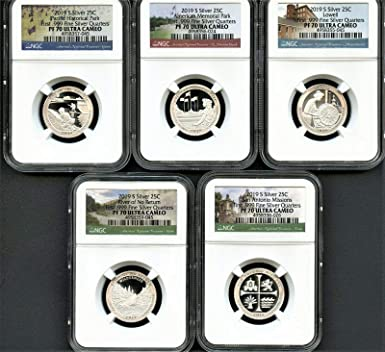 2019 S Silver Proof Quarter Set NGC PF70 Ultra Cameo Early Releases