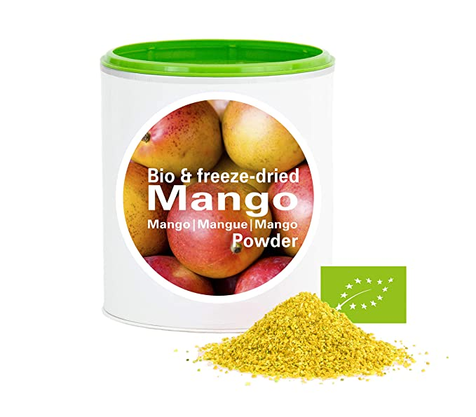 Mango en Polvo - Liofilizado|biológico|vegano|crudo|pura fruta|no
