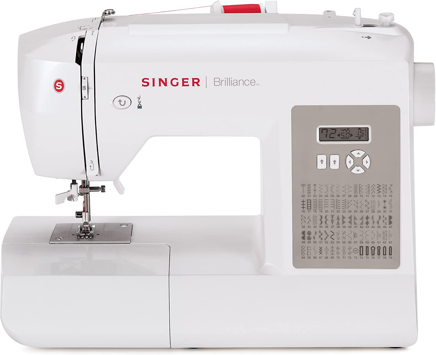 Singer Factory Serviced 6180 Brilliance máquina de Coser portátil ...