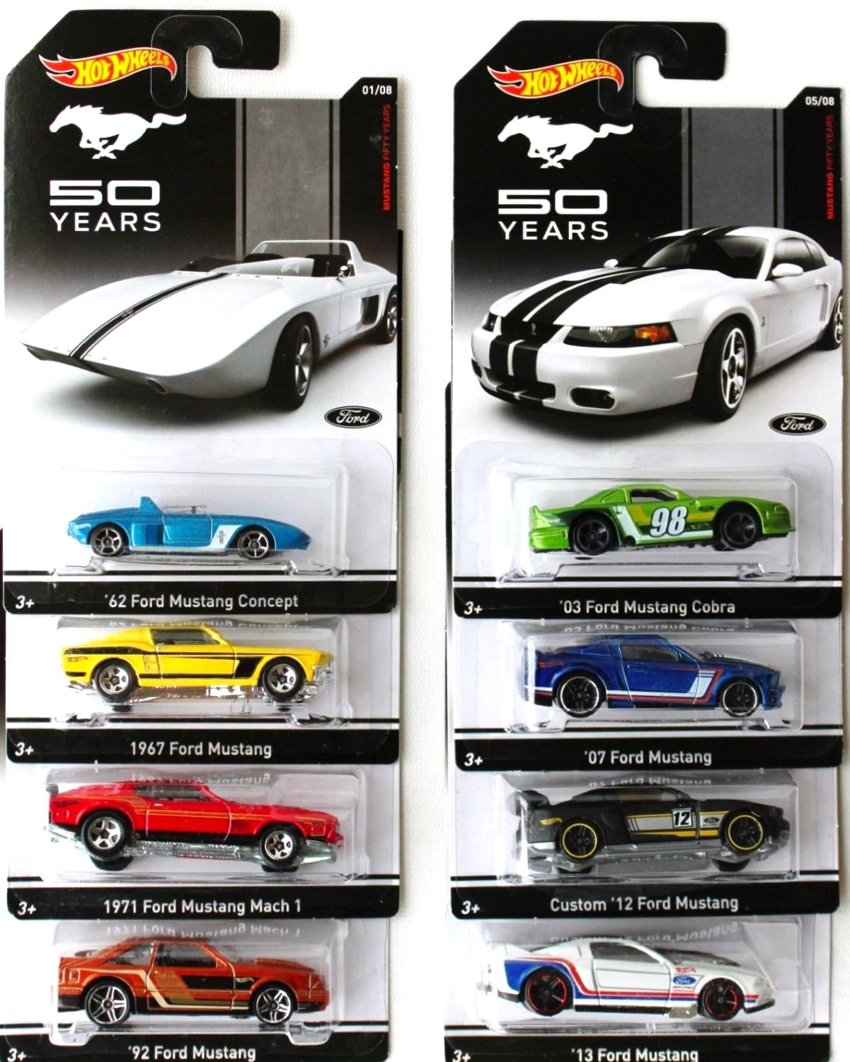 Amazon Hot Wheels Mustang 50 Years Set Of 8 Toys Games