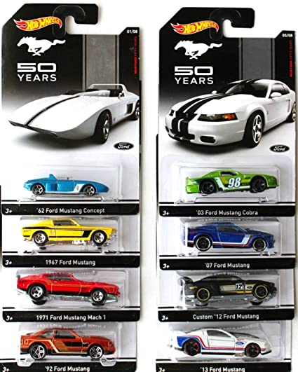 Amazon Com Hot Wheels Mustang 50 Years Set Of 8 Toys Games