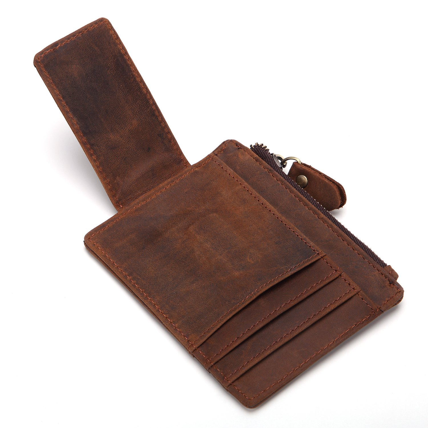 Leather card holder RFID card holder mens bag multi-function coin purse
