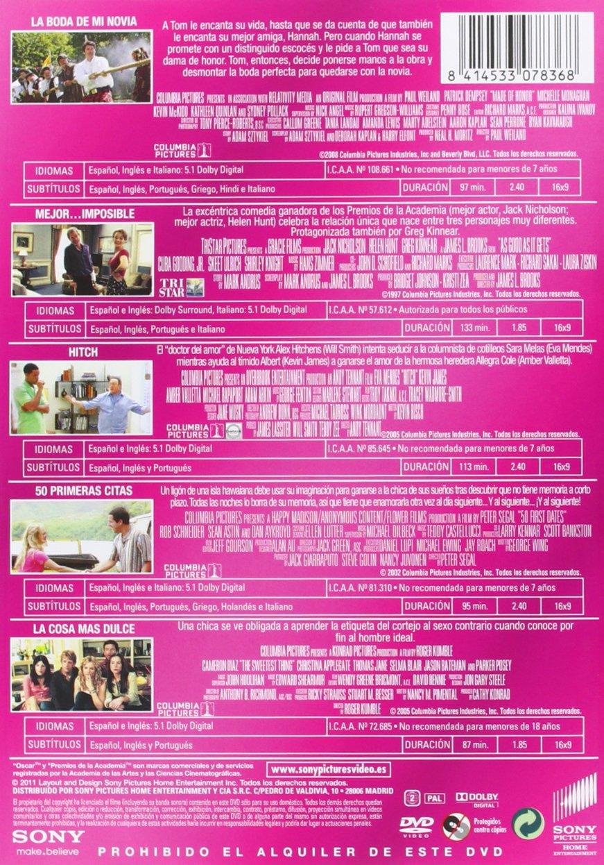 Pack Amor Con Humor 5 Dvds: 50 Primeras Citas/Mejor Imposible/Hitch/La Boda De Mi Novia/La Cosa Más Dulce: Amazon.es: Adam Sandler, Adan Arkin, ...