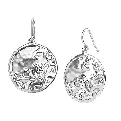 d1b0d9346 Amazon.com: Silpada 'Tidal Wave' Disc Drop Earrings in Sterling ...