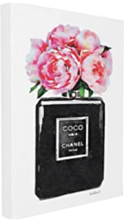 df873edc2 Stupell Industries Glam Perfume Bottle Flower Black Peony Pink Oversized  Stretched Canvas Wall Art, Proudly…