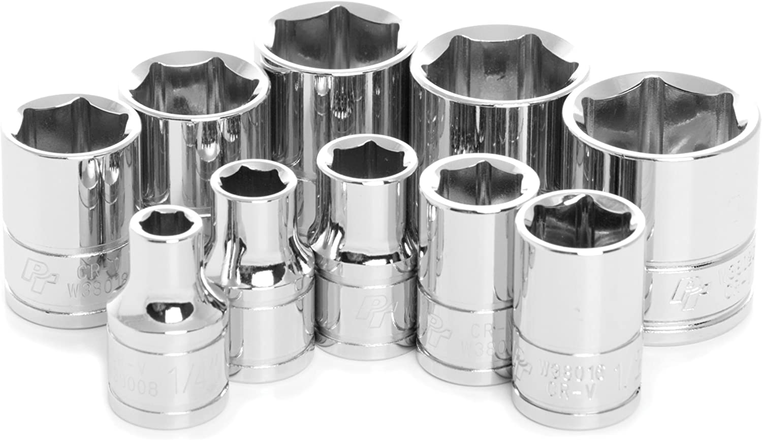 Drive SAE Socket Set 10-Piece 3//8 in