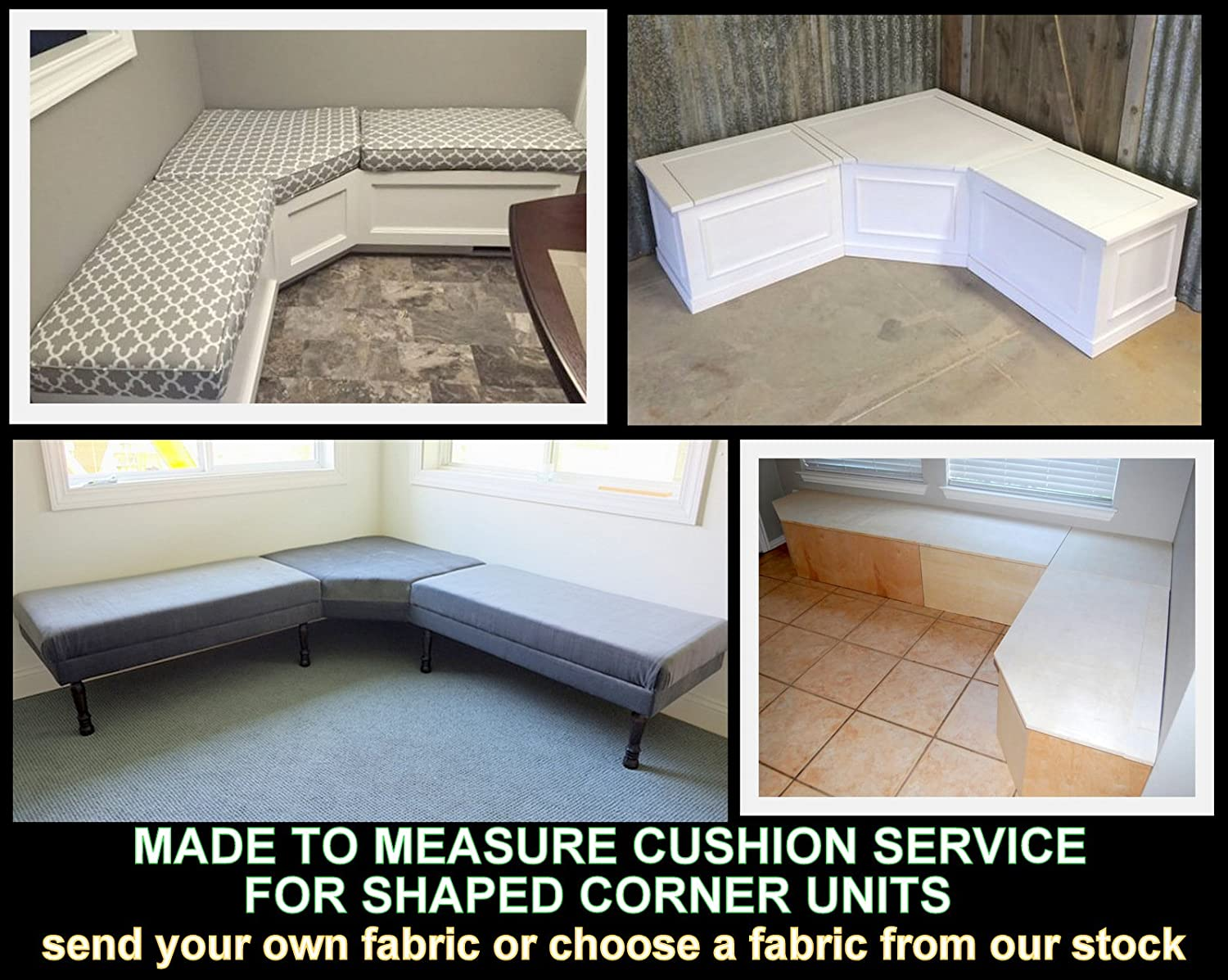 Made to Measure - Quote & Fabric Samples for waterproof Cushions & Covers - Corner Sets - Pallet Furniture - Rattan Furniture - Garden Furniture - Campervans - Caravans & Boats - Over 20 Colours Zippy UK Ltd
