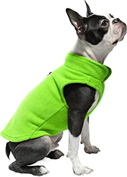 Gooby Small Dog Pullover Fleece Jacket with Leash Ring (Medium Chest)