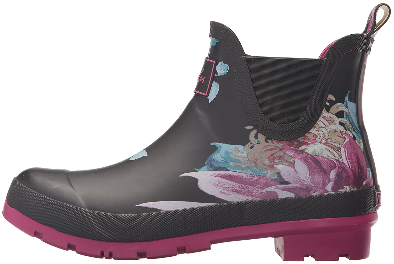 Joules Women's 10 Wellibob Rain Boot B06VVSFYT7 10 Women's B(M) US|Black Clematis 9c8f4f