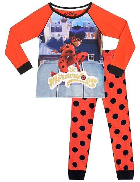 Miraculous Pijamas de Manga Larga para Niñas Ladybug: Amazon.es ...