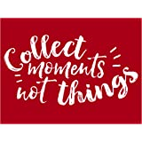 "Darice 30060966 Self Adhesive Screen Stencil 4.5 x 6/"" Collect Moments Quote"