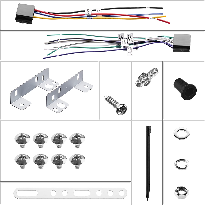 No CD//DVD Multi Color Illumination Bluetooth, MP3//USB AM//FM Radio BOSS Audio 820BRGB Car Stereo Double Din