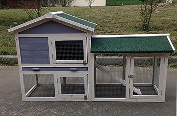 """chickencoopoutlet Deluxe 58 """"Conejo de Madera Hutch Pet Casa Jaula Gallinero con ..."""
