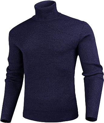 iClosam Jersey De Cuello Alto para Hombre Casual Color SóLido ...