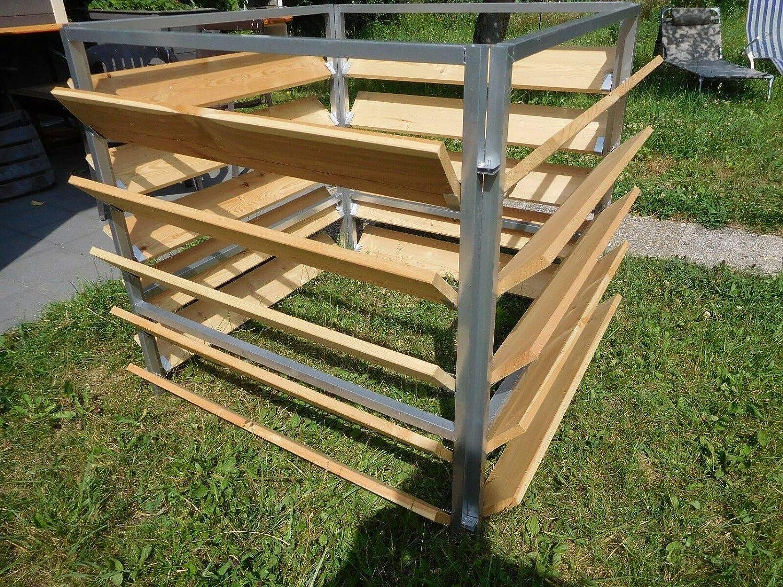 100cm x 100 cm Elmato 14858 Komposter Holz Metall 1000 lt