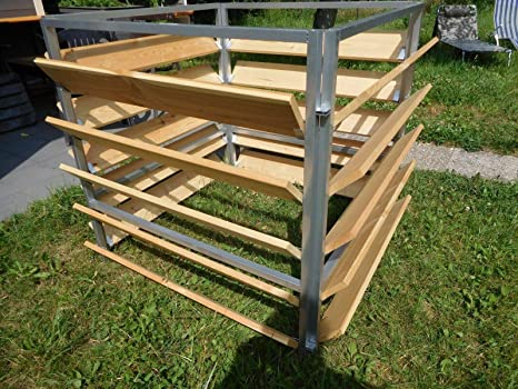 Elmato 14872 - Compostador (madera, metal, 100 cm, 4 piezas ...