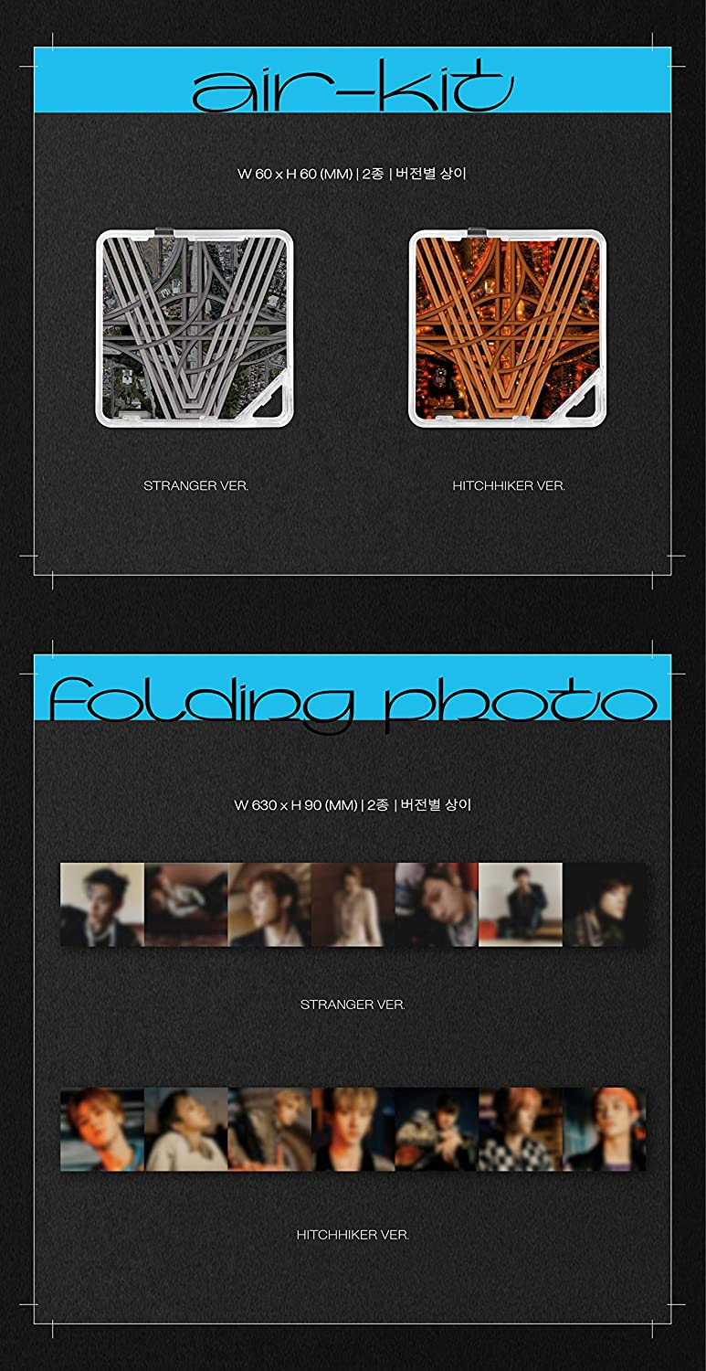 Photocards Pre Order Air Kit+Folded Poster+Others with Tracking 3rd Mini Album Extra Decorative Stickers Kick Back Kit WayV Stranger ver.