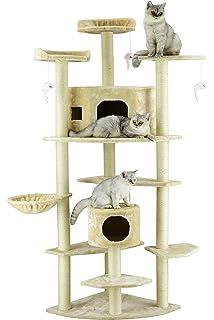 Go Pet Club Cat Tree, 80 Inch, Beige