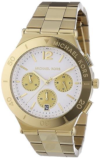 Michael Kors - Reloj de Cuarzo para Mujer, Correa de Acero Inoxidable Color Dorado: Amazon.es: Relojes