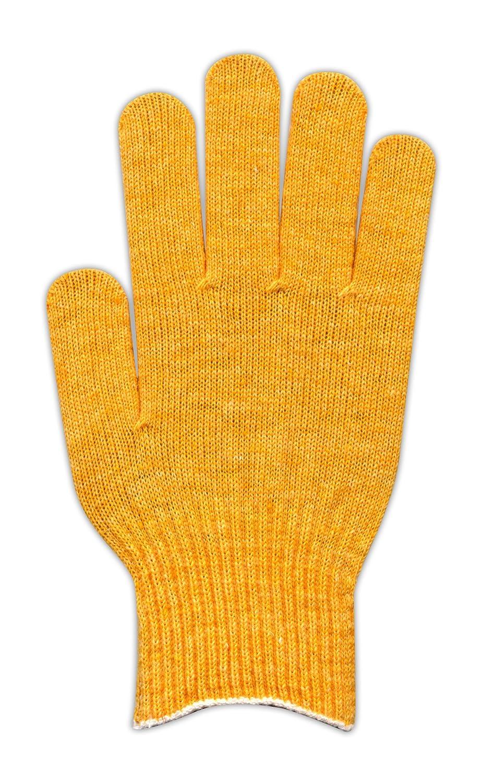 カラー手袋(10ゲージ編み) パステルイエロー 500組セット B00IDY884K