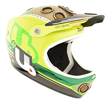 Urge Down-O-Matic Veggie lime L/XL - Casco para bicicleta BMX