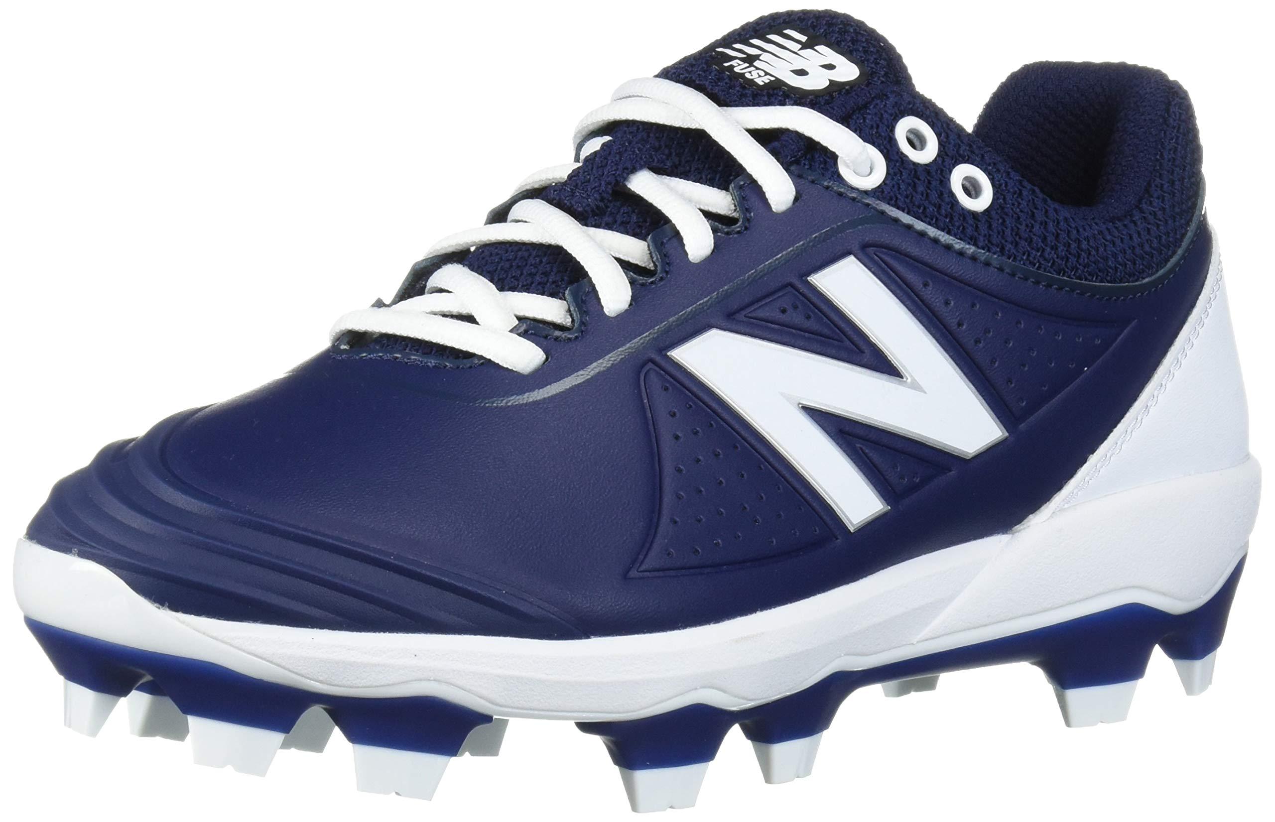 New Balance Women's Fuse V2 Molded Baseball Shoe, Navy/White, 8 W US by New Balance