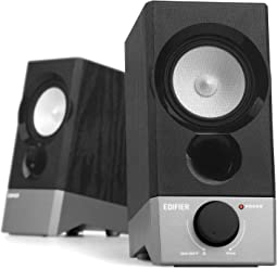 Edifier R19U Compact 2.0 Speakers Powered by USB Supports Windows 10 and Mac OS X 10.12 Sierra
