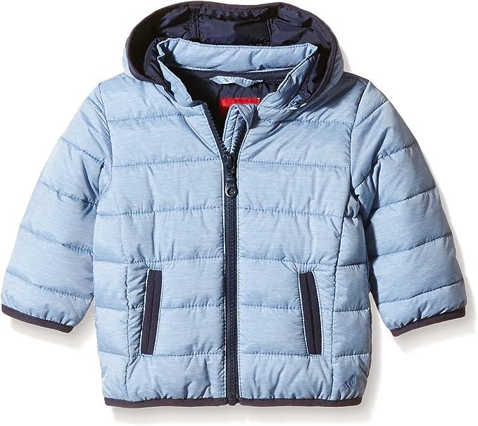s.Oliver Unisex Baby Winterjacke mit Farbakzenten blue melange 68
