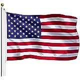 Bandera de latón impreso con ojales internacionales de 91,44 x 152,4 cm, EE.UU, 3x5 FT