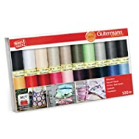 Gutermann Lot de filetage : Sew Lot de 20, assorties, 100 m