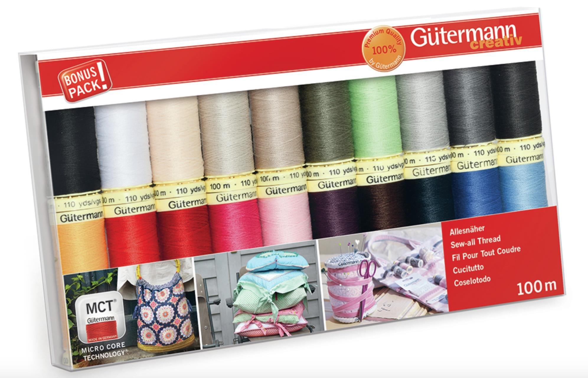 Gutermann Juego de hilos: coser 20 unidades, surtido, 100 m product image