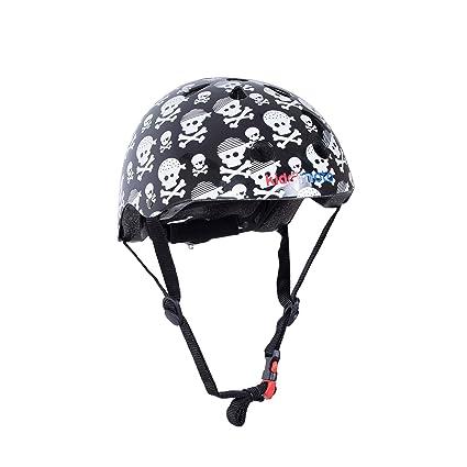 KIDDIMOTO Casco Bicicleta/Cascos para Infantil/Bici Casco para Patinete, Ciclismo Montaña, BMX, Carretera Skate, Patines, Monopatines - Pirata Bandera
