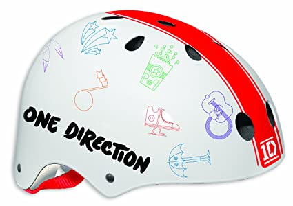 One Direction Casco de seguridad infantil (54-58 cm), color rojo y