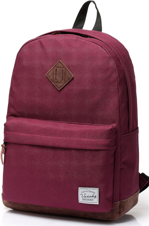 School Backpack,Vaschy Unisex Classic Water-resistant Backpack for Men Women.